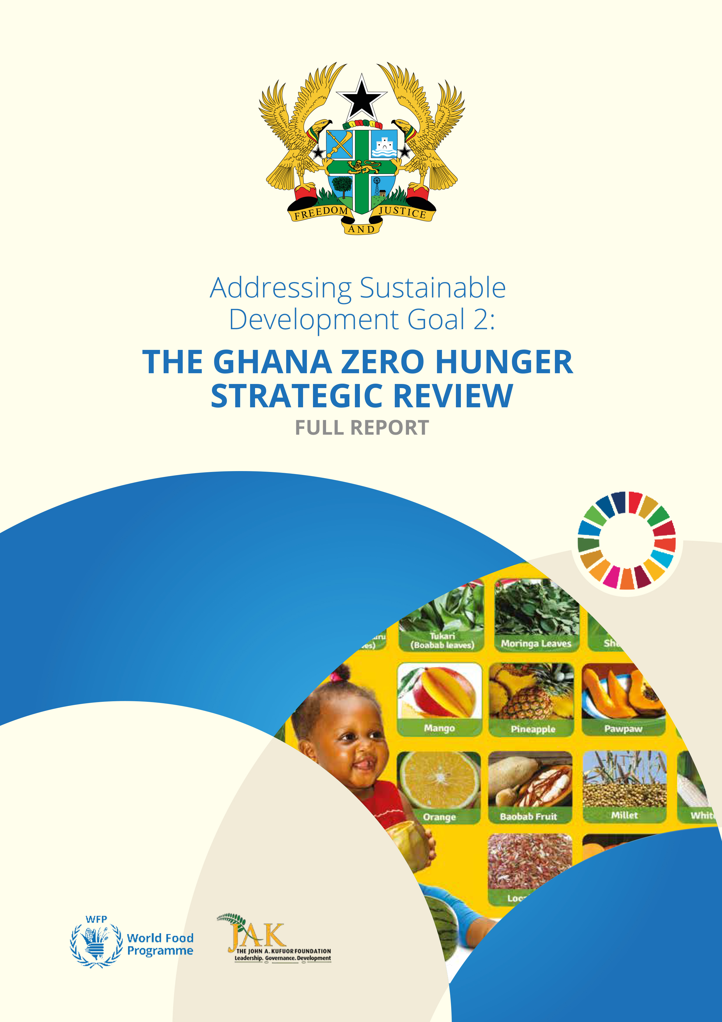 The Ghana Zero Hunger Strategic Review report cover page