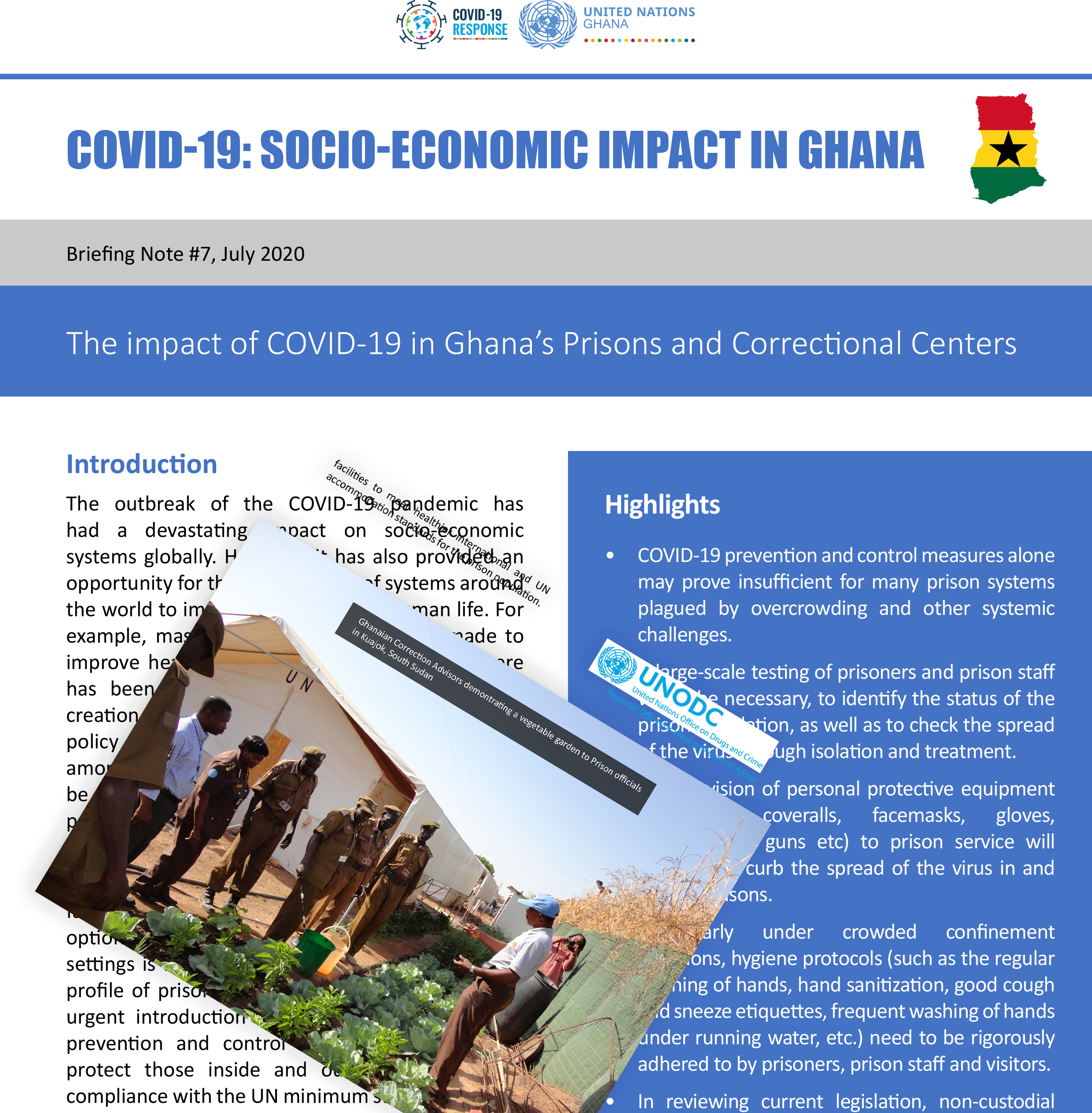 The impact of COVID-19 in Ghana's Prisons and Correctional Centers