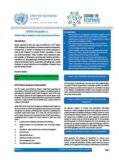 The UN Ghana COVID-19 Bulletin
